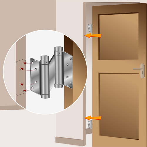 Installer une porte battante porte for Porte double battant exterieur