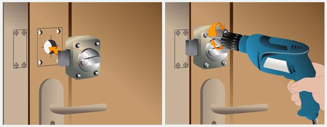 Poser un verrou porte - Comment poser une vitre sur une porte ...