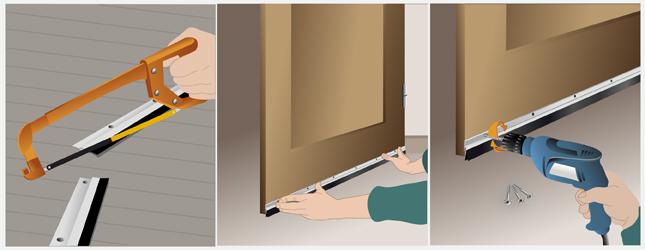 Poser un bas de porte porte for Isoler bas de porte d entree