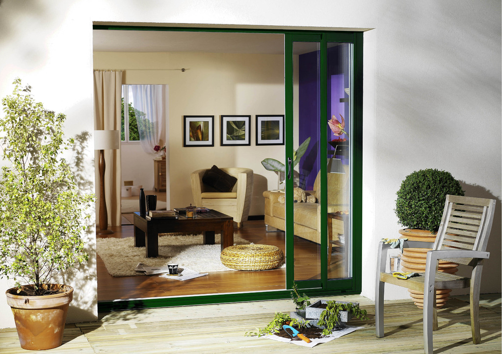 porte coulissante en aluminium caract ristiques ooreka. Black Bedroom Furniture Sets. Home Design Ideas