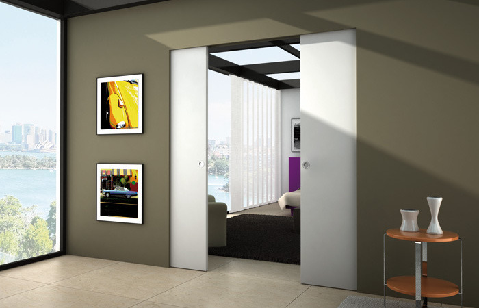 Porte coulissante int rieure cloison coulissante for Porte coulissante interieure