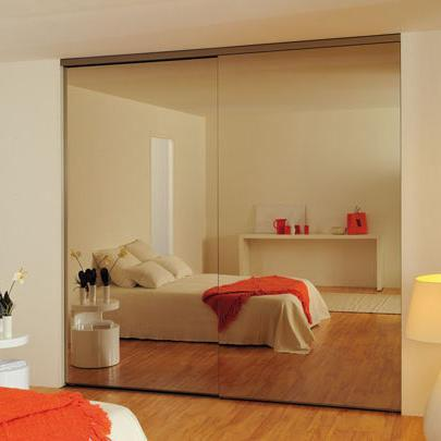 Porte Placard Coulissante Aluminium Portes Coulissantes De Dressing - Porte placard coulissante avec porte double interieur vitree