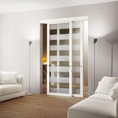 Porte Coulissante En Bois Et Verre Maison Design Bahbecom - Porte placard coulissante et prix porte interieur appartement