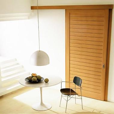 Porte intérieur coulissante en bois