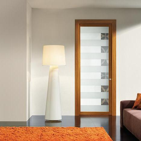 Porte intérieur coulissante en verre