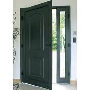Porte d'entrée en pvc et aluminium