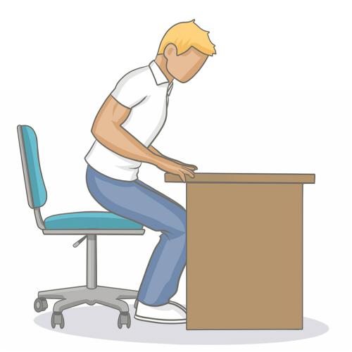 Bien s'asseoir devant son bureau