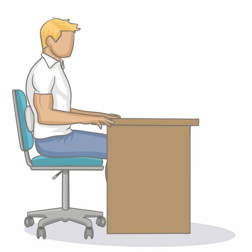 adopter une bonne position assise au bureau mal de dos