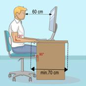 adopter une bonne position assise au bureau mal de dos. Black Bedroom Furniture Sets. Home Design Ideas