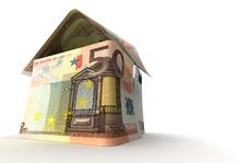 Billets de 50 forme maison