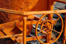 Rouages orange betonniere