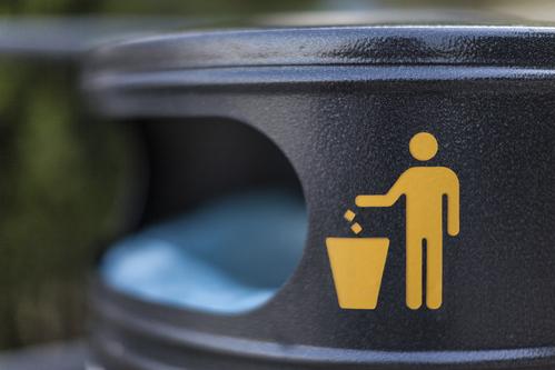 Logo d'une poubelle exterieur