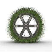 Roue herbe pneu