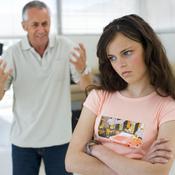 Père dispute sa fille