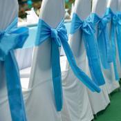 Tables de réception noeuds turquoise