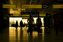Hall aeroport sombre