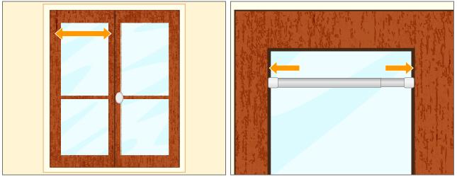 Poser une barre de vitrage rideaux - Barre rideau extensible autobloquante ...