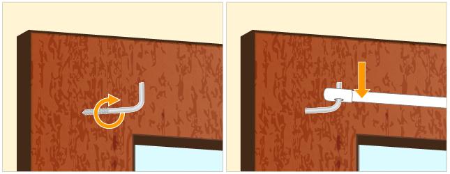 Poser une barre de vitrage rideaux for Fixer une fenetre pvc
