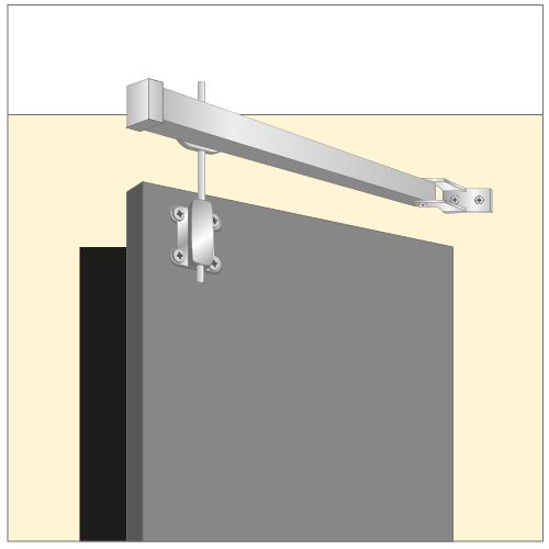 Installer une tringle pivotante rideaux - Barre rideau porte ...