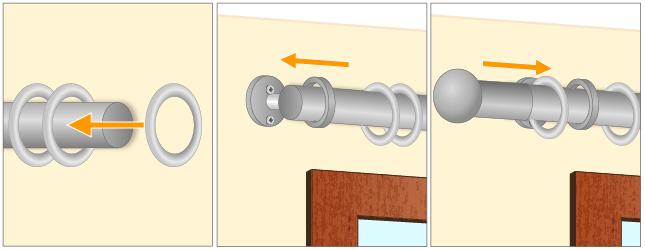 Installer une tringle rideaux rideaux - Tringles a rideaux en bois ...