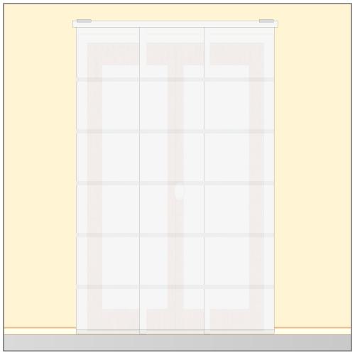 installer des panneaux japonais rideaux