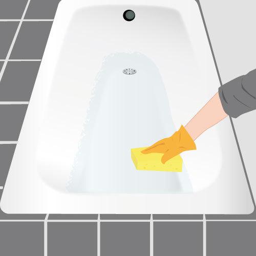 Peindre une baignoire salle de bain for Peindre baignoire fonte
