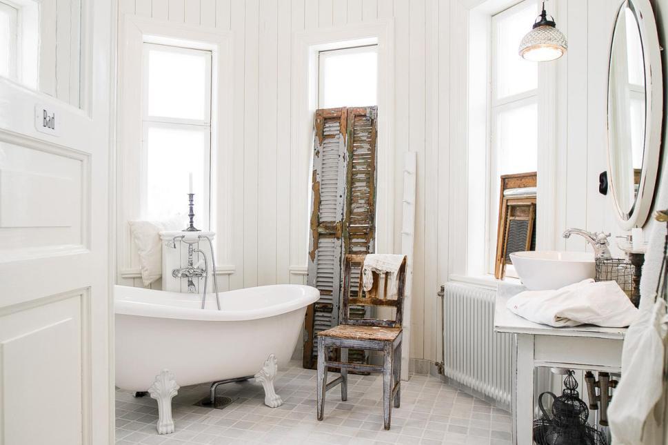 7 lments pour une salle de bain ancienne - Salle De Bain Vintage
