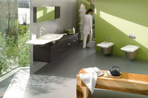 Salle de bain accessoires et meubles de salle de bain for Salle de bain zen vert