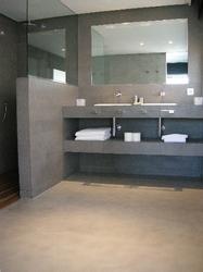 Sol salle de bain infos et conseils sur le sol en b ton - Beton lisse salle de bain ...