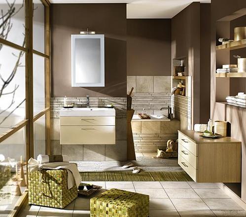 Photo guide de la salle de bain salle de bain avec - Peindre un meuble de salle de bain stratifie ...