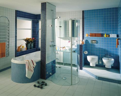 Salle de bain familiale infos et conseils - Carrelage bleu turquoise salle de bain ...