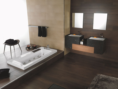 photo guide de la salle de bain marbre et bois. Black Bedroom Furniture Sets. Home Design Ideas