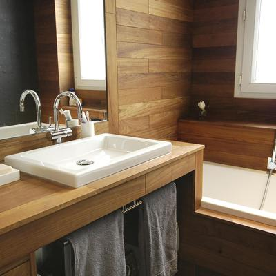 Salle de bain chalet : atouts, essences de bois, prix - Ooreka