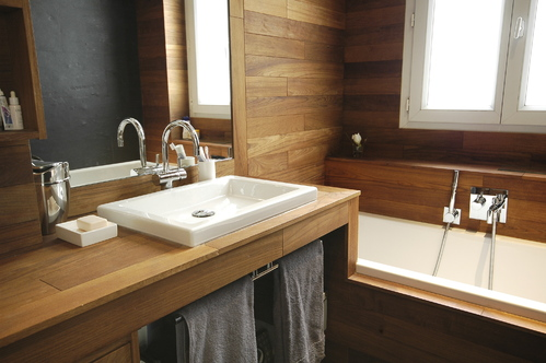 Salle de bain accessoires et meubles de salle de bain for Panneau bois salle de bain