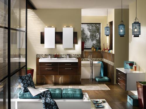 Photo Decoration : salle de bain moderne