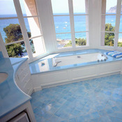 Salle de bain en lave émaillée