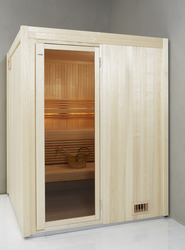 sauna kit infos et installation du sauna en kit. Black Bedroom Furniture Sets. Home Design Ideas