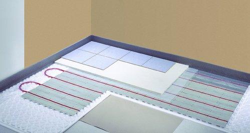 un plancher chauffant dans une salle de bain ooreka. Black Bedroom Furniture Sets. Home Design Ideas