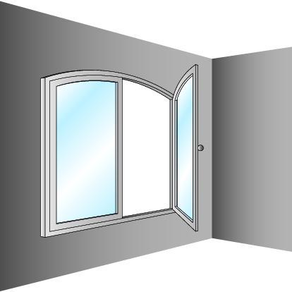 Schéma de fenêtre cintrée