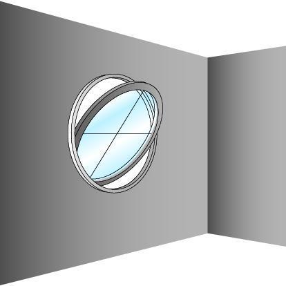 Schéma de fenêtre oeil de boeuf en cercle