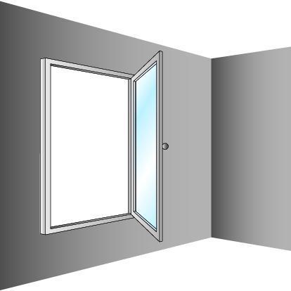 Schéma de fenêtre oscillo-battante à ouverture verticale
