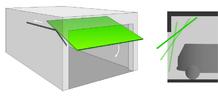 Schéma de porte de garage basculante à bras d'équilibrage