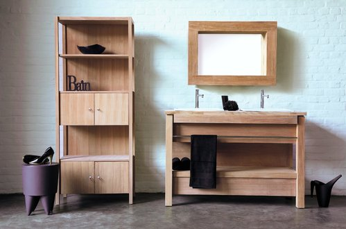 Salle de bain en bois infos et conseils for Fabriquer meuble salle de bain bois