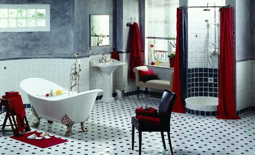 Carrelage salle de bain 4 diff rents types de carrelage - Pose carrelage salle de bain sol ...
