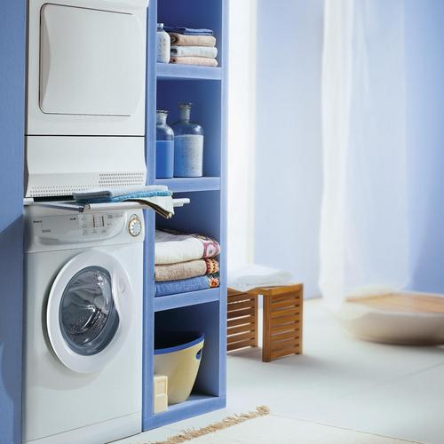 cr er un espace buanderie dans une salle de bain ooreka. Black Bedroom Furniture Sets. Home Design Ideas