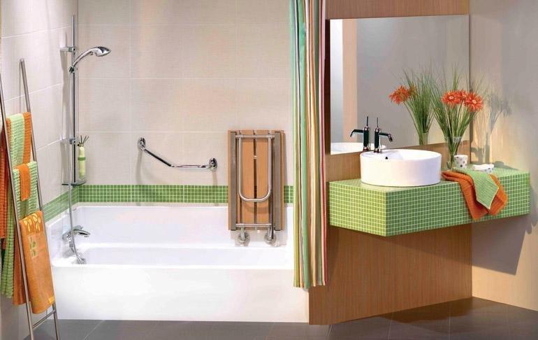 Favori Salle de bain pour personne à mobilité réduite - Ooreka OX18