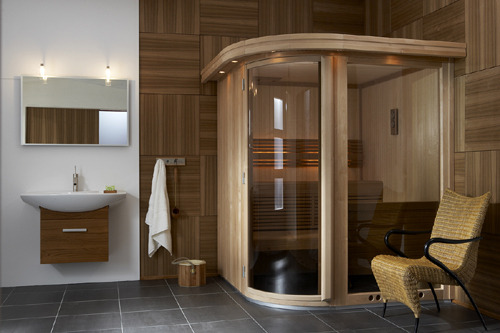 sauna installer un sauna dans sa salle de bain infos conseils. Black Bedroom Furniture Sets. Home Design Ideas