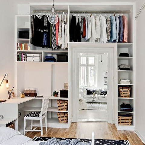 9 astuces pour organiser dressing et armoire ooreka. Black Bedroom Furniture Sets. Home Design Ideas