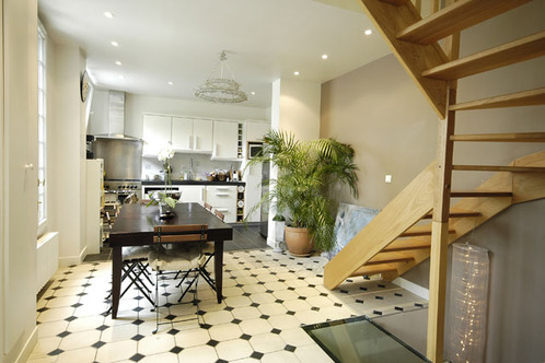 Sol revetement de sol et carrelage pose sol beton et bois for Cuisine carrelage noir et blanc