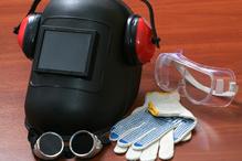 Masque, lunettes, casque et gants de protection